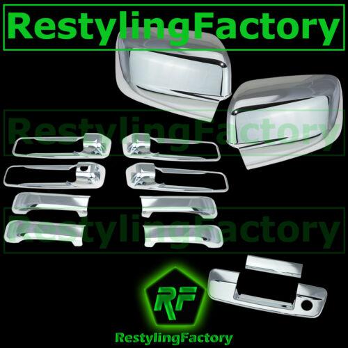 09-17 Dodge Ram Chrome Mirror no Light+4 Door Handle+Tailgate w KH no CM Cover