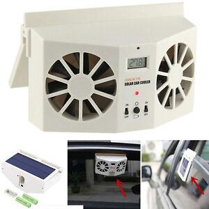 solar l fter auto fenster luft entl ftung solarl fter k hler mini fan ventilator ebay. Black Bedroom Furniture Sets. Home Design Ideas