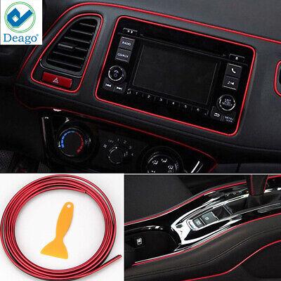 Car Interior Trim Strip Exterior Moulding Strip Decorative Line Flexible Car Interior Decoration Moulding Trim Strips 5M Red