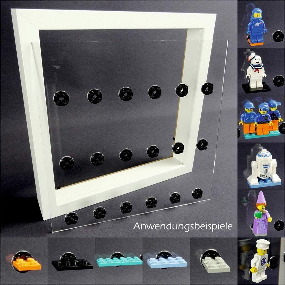 Display Cases Case for Ribba Frame for Lego Series Place for 18 Figurines