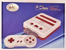 New Retro Nintendo NES & SNES 2 in 1 System - White/Red FC2 Slim