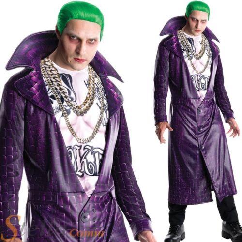 Deluxe Suicide Squad Joker Costume Mens Halloween Fancy Dress Jacket /& Shirt