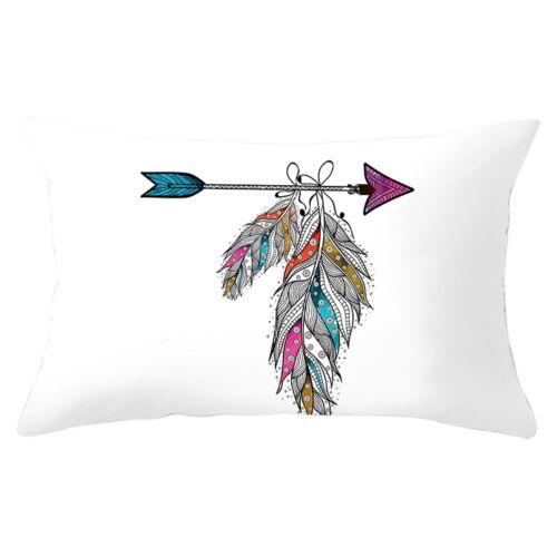 Retro Feather Stone Pillow Case Sofa Waist Throw Cushion Cover Home Decor 30X50