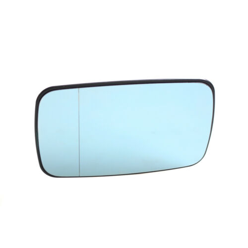 Blue Rearview Split Mirror Heated Glass for BMW E46 99-05 Left Passenger Side