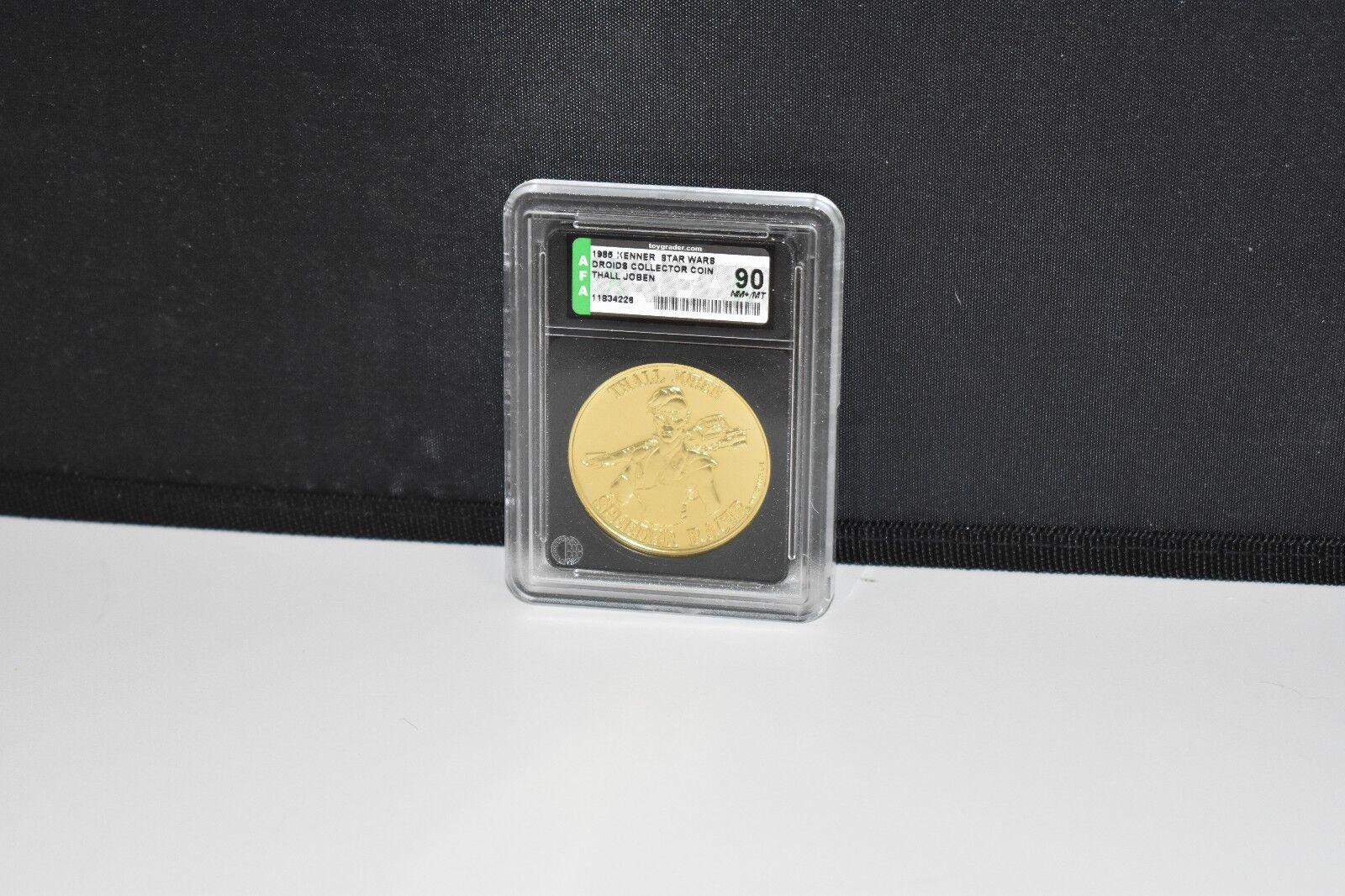 Vintage 1985 Kenner Star Wars POTF DROIDS THALL JOBEN Coin - AFA 90 NM+