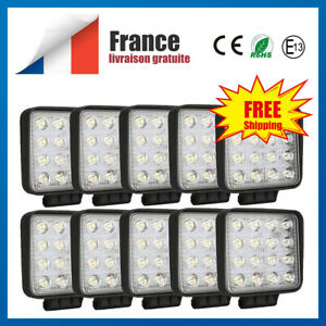 10x-LED-Worklight-48W-projecteur-de-travail-12V-24V-Offroad-4WD-SUV-phare-feux