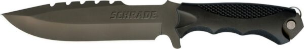 Schrade - Fixed Blade 8Cr13MoV Steel - Full Tang - Removable Multi-Tool - SCHF27