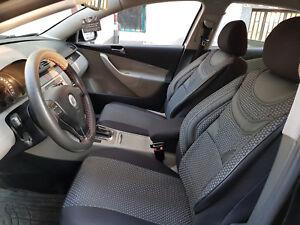Schwarz-graue Sitzbezüge für TOYOTA VERSO Autositzbezug VORNE