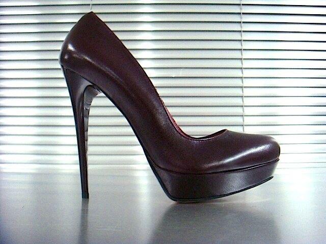 MORI ITALY PLATFORM DECOLTE HEELS PUMPS SCHUHE Schuhe DECOLTE PLATFORM LEATHER BORDEAUX BORDO 38 41147b