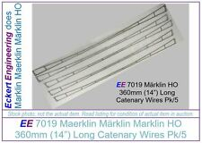 "EE 7019 Used EXC Marklin HO Catenary Wires 7019 14"" 360mm long Excellent Pk of 5"
