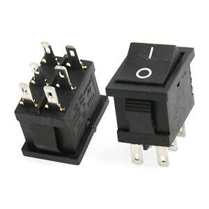 10x-6A-250V-10A-125V-6-Pin-DPDT-ON-ON-2-Posizione-Snap-Interruttore-a-bilanciere