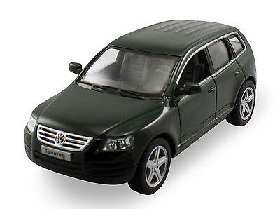 """Kinsmart 2003 Volkswagen Touareg SUV 1:38 scale diecast 5"""" model car Green K114"""