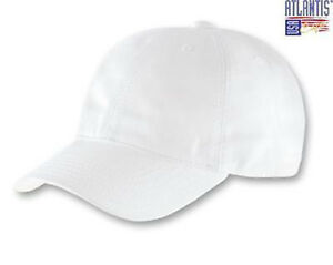 ATLANTIS-Dynamic-Tinta-Unita-Vintage-Cappellino-Baseball-Hat-BIANCO