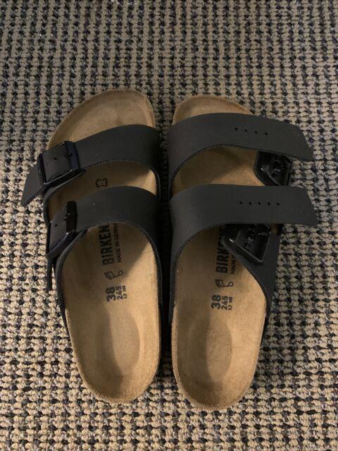 Birkenstock Arizona Birko-Flor Sandals Size 38 Black 51791SZ45