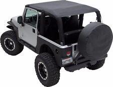Smittybilt Extended Top 92-95 Jeep Wrangler YJ 92915 Black w/ Windshield channel