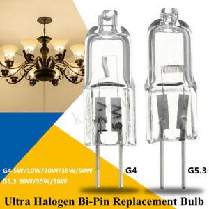 G4-G5-3-5W-10W-20W-35W-50W-Halogene-Bi-Pin-Capsule-Lampe-Ampoule-Blanc-Chaud-12V