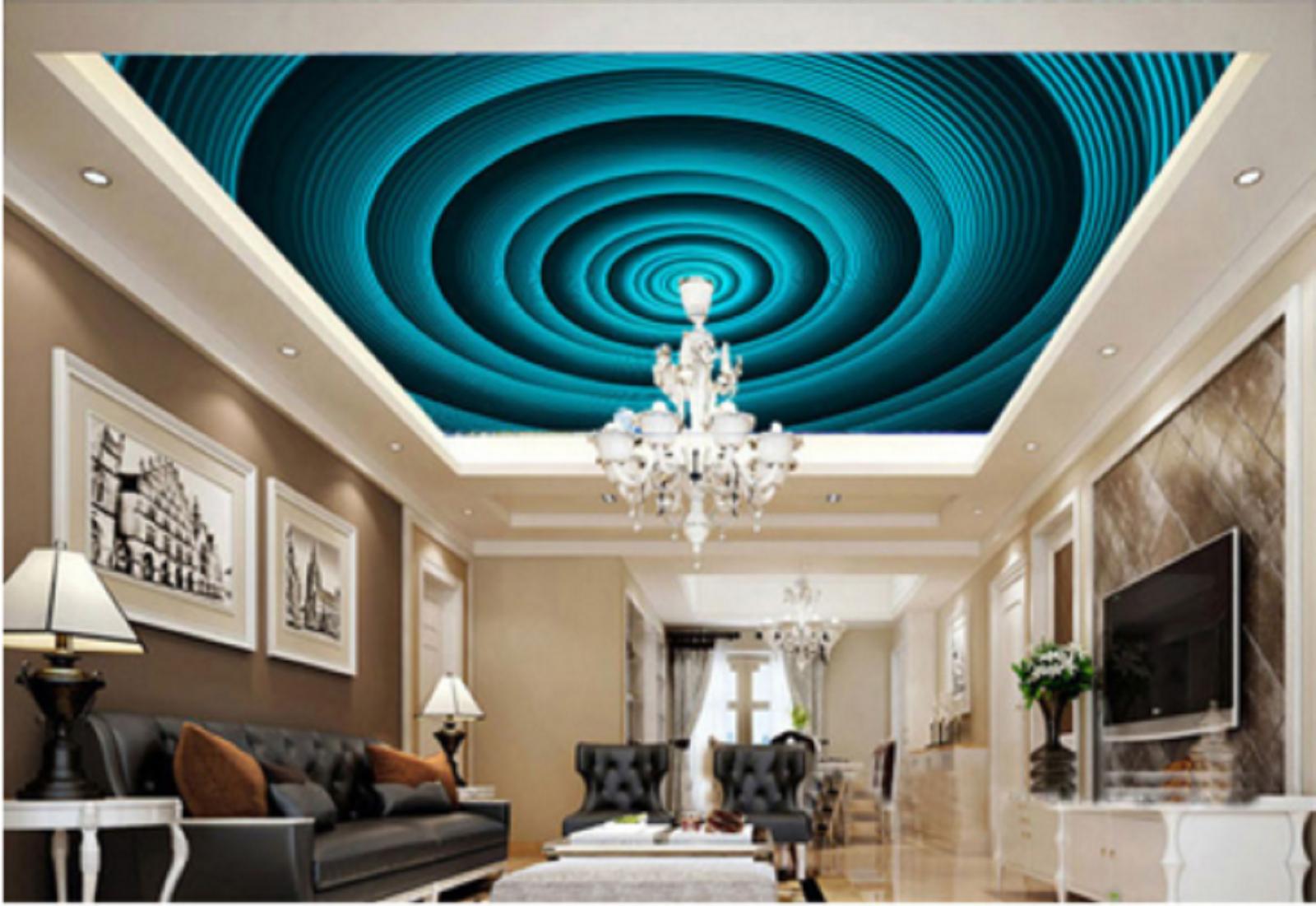 3D Ultrasonic Wave 7 Ceiling WallPaper Murals Wall Print Decal Deco AJ WALLPAPER