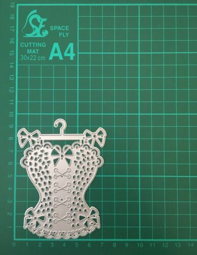 Craft Dies Dress Corset Bow Detail Hanger Die Cutter
