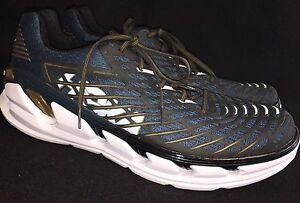Hoka-One-One-Vanquish-3-Running-Tennis-Shoes-Midnight-Navy-Metallic-Gold-size