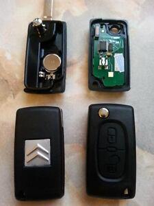 ASK-Cle-PLIP-Complete-Telecommande-2-BOUTON-CITROEN-C2-C3-CE0536-Freq-433-mhz