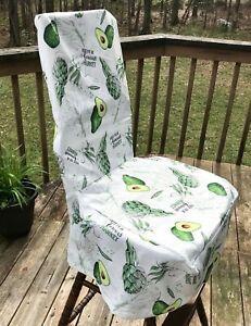 Miraculous Details About Farmers Market Fabric Slim Parson Dining Chair Slipcover Avocado Veggies Rustic Inzonedesignstudio Interior Chair Design Inzonedesignstudiocom