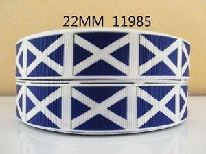 1 Mètre Scotland Flag Ruban Taille 7/8 Cheveux Noeuds Bandeaux Fabrication Carte Artisanat-afficher Le Titre D'origine