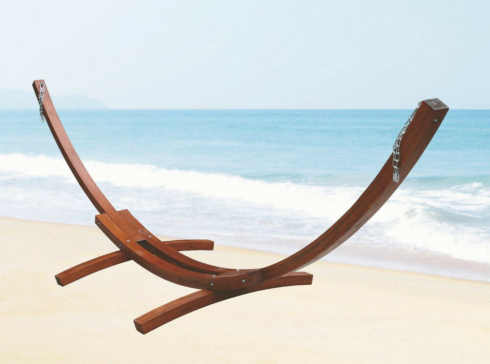 Struttura telaio in legno di larice per amaca amache a 2 posti cm 410x120x130h