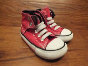 abe64c42cd84d Boys Converse CT All Star Red Canvas Mid Top Trainers Size UK 6 Kids ...