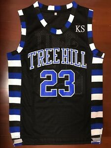 One Tree Hill Nathan Scott  23 Ravens Black Basketball Jersey Black ... eb1ab026f