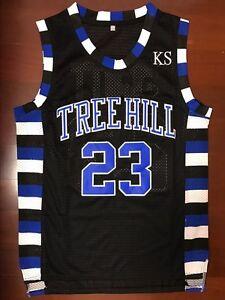 One Tree Hill Nathan Scott  23 Ravens Black Basketball Jersey Black ... 4c8791011