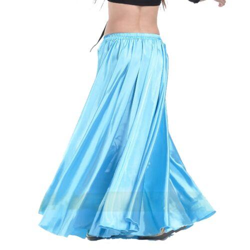 Fashion Women Belly Dance Costumes Satin Skirt  Swing Full Circle Long Skirt