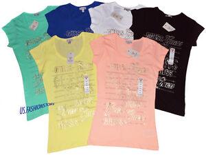 GUESS-Chemise-Logoshirt-debardeurs-t-shirts-col-rond-6-couleurs-100-coton-XS-XL