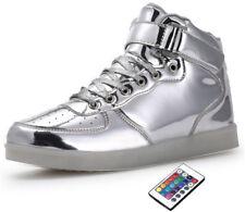 1a53af436eb3f 2018 Women Men Remote Control LED Light Up Shoes USB High Top Luminous  Sneskers