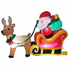 item 2 large inflatable santa snowman outdoor airblown xmas christmas decoration figure large inflatable santa snowman outdoor airblown xmas christmas - Santa Snowman 2