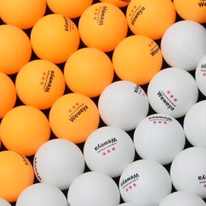 100pcs-50pcs-TT-Balle-Tischtennisballe-40mm-Weiss-Orange-Aufdruck-Stabile-Qual
