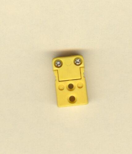 Yellow Type K Thermocouple Connectors Jacks Female Mini Socket Receptacle