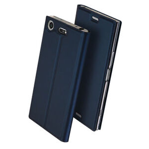For-Sony-XA1-XA2-Ultra-XZ2-Compact-Magnetic-Full-Cover-Flip-Leather-Wallet-Case