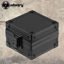 INFANTRY Aluminum Wrist Watch Jewelry Display Case Holder Storage Black Gift Box