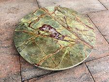 runde Marmor Tischplatte Naturstein grün Couchtischplatte Bistro Steinplatte BAR
