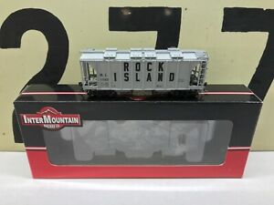 InterMountain-HO-Scale-Rock-Island-2-Bay-Covered-Hopper-RD-11560-RTR-New