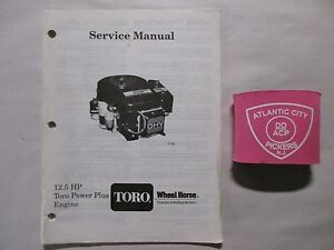 Details about TORO WHEEL HORSE 12 5 HP POWER PLUS ENGINE SERVICE MANUAL