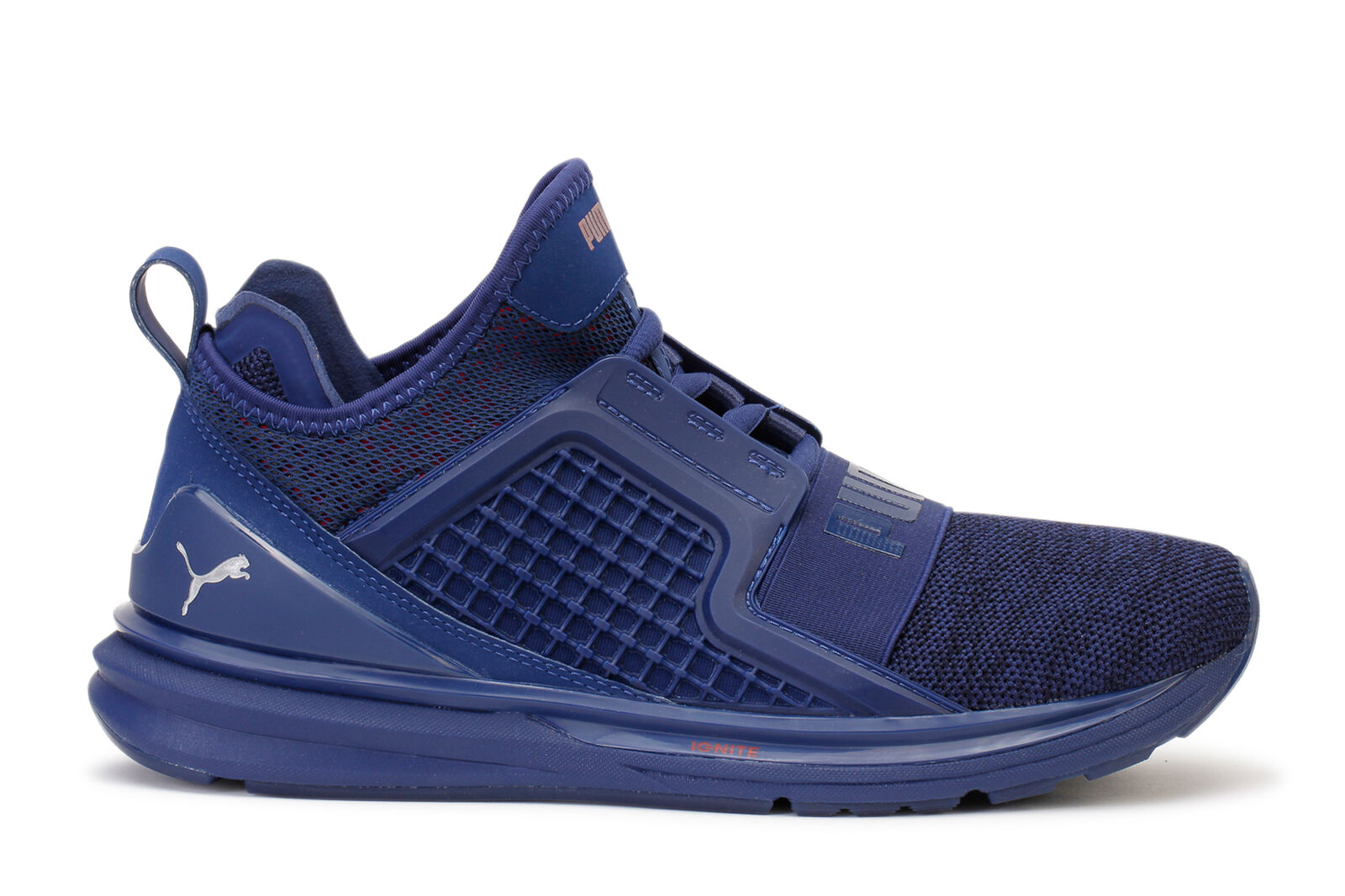 Puma Men's Sneakers Ignite Limitless Knit bluee Depth Toreador 189987-01