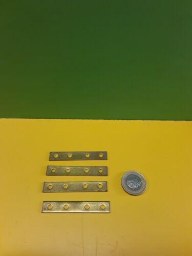 "4 Solid Brass 2 1//4/"" Repair Plates"