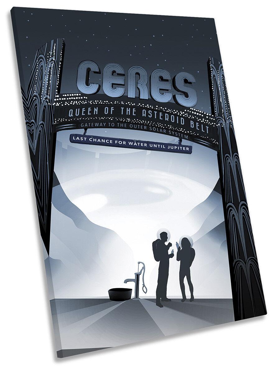 Ceres NASA Space Space Space Tourism Picture CANVAS WALL ART Portrait Print 6deb2a