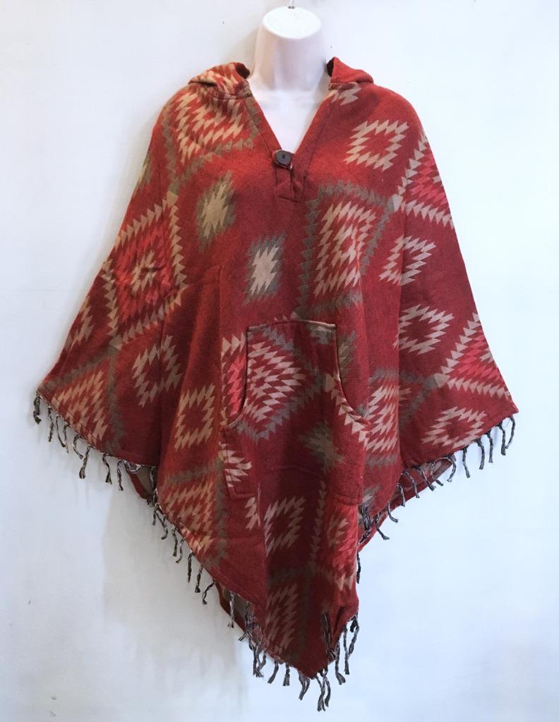 Hippie Bohemian Indian Gypsy Festival Groovy Patterns Cape Hoodie Hoodie Hoodie Poncho 218745 5aad7a