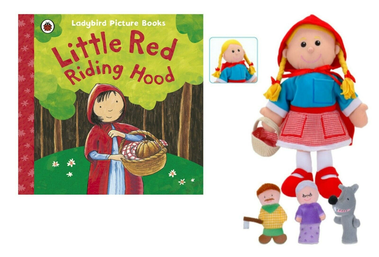 Little Red Riding Hood Puppet Story Book Set World Book Day EYFS KS1
