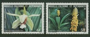 NEW-CALEDONIA-ORCHIDS-1986-MNH-SET-OF-TWO-G21-PB