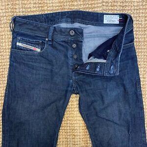 DIESEL-Zatiny-Regular-Jeans-Bootcut-Lavaggio-0088Z-W30-L30-Dark-Denim-Chiusura-a-Bottone