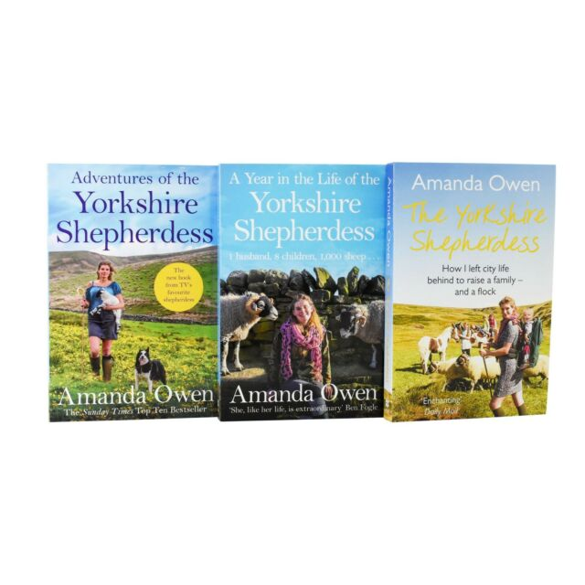 Yorkshire Shepherdess 3 Books Adult Collection Paperback Set By Amanda Owen