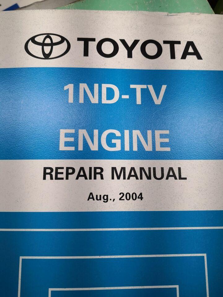 (158)Reparationsbog, Toyota motorbog